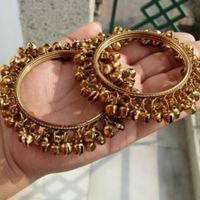 Golden Pair Of Ghungroo Bangles