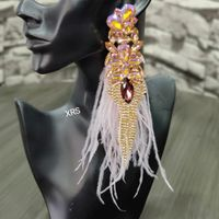 Ophelia Baby Pink Earrings With Feathers